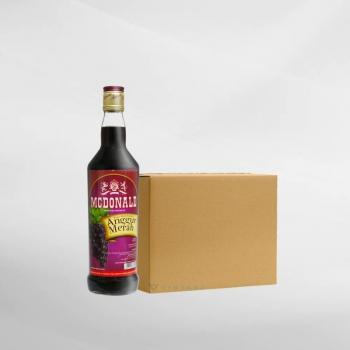 Promo 1 Ctn ( 12 Btl ) Mcdonald Anggur Merah 650 ml
