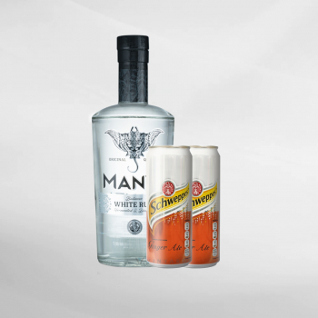 Promo Manta White Rum 700 ml + 2 Pcs Schweppes Ginger Ale 330 ml