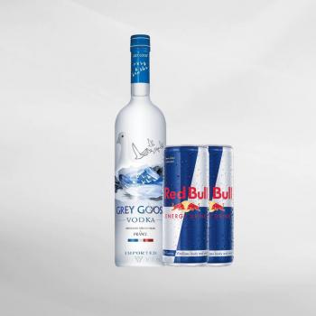 Promo Grey Goose Vodka 750 ml + 2 Pcs Red Bull 250 ml
