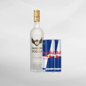 Promo Fashion Vodka 750 ml + 2 Pcs Red Bull 250 ml