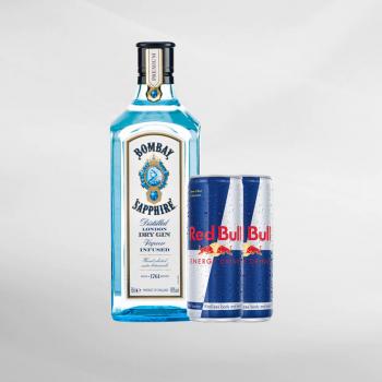 Promo Bombay Sapphire Gin 750 ml + 2 Pcs Red Bull 250 ml