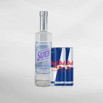 Promo Bali Moon Silver Gin 700 ml + 2 Pcs Red Bull 250 ml